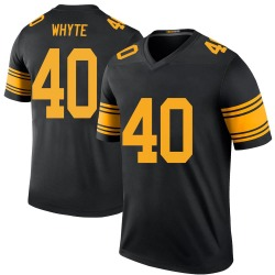 Kerrith Whyte Jr. Pittsburgh Steelers Youth Color Rush Legend Nike Jersey - Black