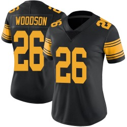 Rod Woodson Pittsburgh Steelers Women's Limited Color Rush Nike Jersey - Black
