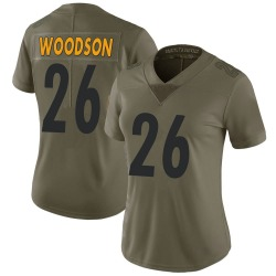 Rod Woodson Pittsburgh Steelers Women's Limited Salute to Service Nike Jersey - Green